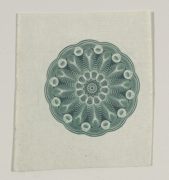 Manufacturing Equipment「Banknote Motif: Small Circular Ornament Containing Floral Lathe Work」:写真・画像(4)[壁紙.com]