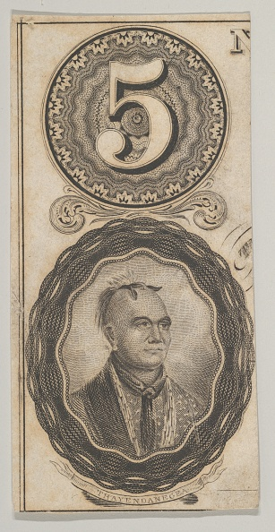 Mohawk「Banknote Motifs: The Number 5 And A Portrait Of Thayendanegea」:写真・画像(7)[壁紙.com]