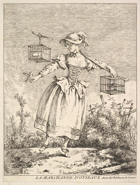 Etching「La Marchande Doyseaux (The Bird Merchant)」:写真・画像(3)[壁紙.com]