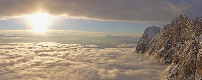 Dachstein Mountains「Clouds over Dachstein at Sunset」:スマホ壁紙(11)