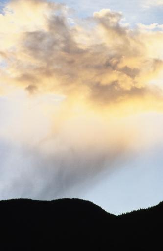 Adirondack Mountains「Clouds over mountains, sunset」:スマホ壁紙(5)