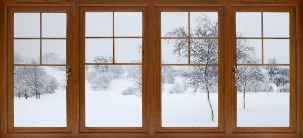 雪「冬の庭園の眺め」:スマホ壁紙(0)