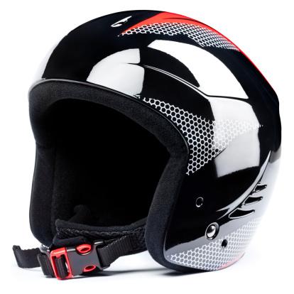 スキー「スキーヘルメット、白背景」:スマホ壁紙(5)