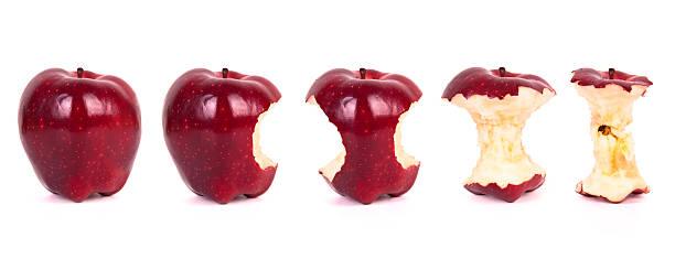 Timeline of eating an apple (XXXL):スマホ壁紙(壁紙.com)