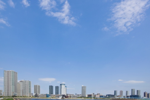 Japan「High rise buildings under sky, copy space, Tokyo prefecture, Japan」:スマホ壁紙(14)
