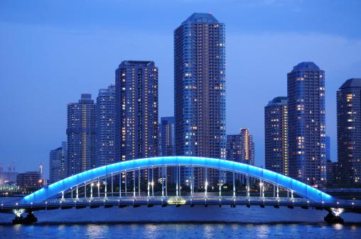 東京都中央区「High Rise Buildings by Eitai Bridge」:スマホ壁紙(13)