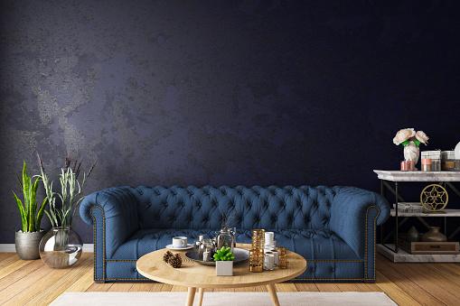 Chesterfield Sofa「Chesterfield Sofa with Dark Wall」:スマホ壁紙(6)
