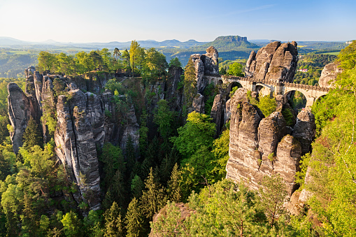 Saxony「Bastei bridge in Saxon Switzerland, Germany」:スマホ壁紙(7)