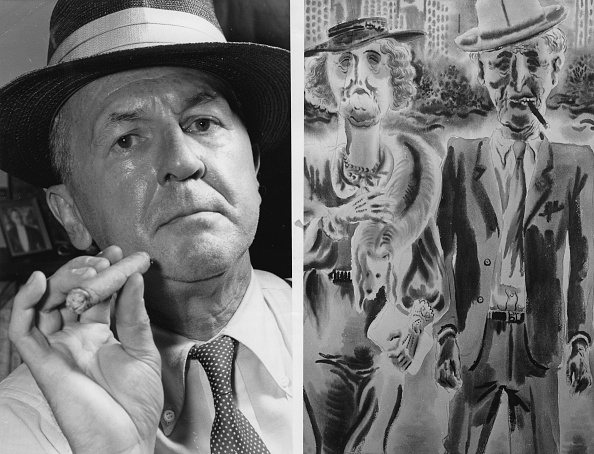 水彩画「On The Left Painter George Grosz; On The Right Watercolor Ehepaar (Which Grosz Had Painted In America). About 1955. Photograph.」:写真・画像(18)[壁紙.com]