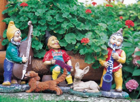 Accordion - Instrument「Gnome band in garden」:スマホ壁紙(6)