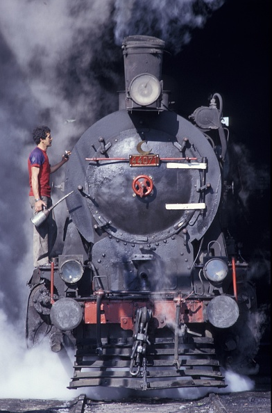 Responsibility「Turkish Railways ex - Prussian G8 class 0-8-0 No. 44071 peeps out of the little longhouse at Burdur whilst being prepared for duty on Friday 26th June 1987.」:写真・画像(11)[壁紙.com]