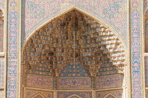 Iran「Decorated Wall Of Nasir Ol-Molk Mosque, Shiraz, Fars Province, Iran」:スマホ壁紙(3)