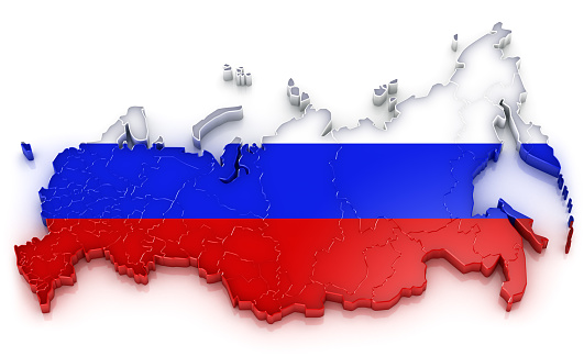 世界の風景(地域別)「ロシアのフラグマップ」:スマホ壁紙(19)