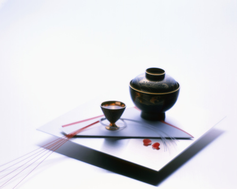 元旦「Lacquer bowl and sake cup」:スマホ壁紙(18)