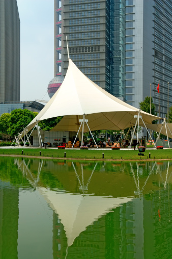 Entertainment Tent「The reflection of tent at the garden of PuDong district in Shanghai」:スマホ壁紙(9)
