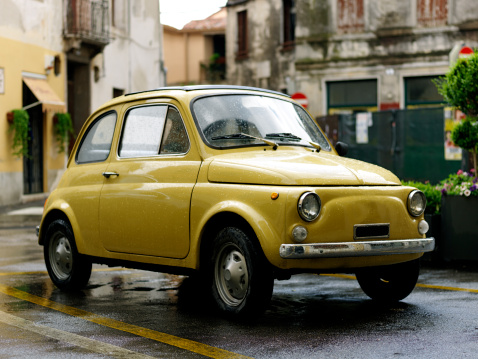 Vintage Car「Fiat 500. Color Image」:スマホ壁紙(12)