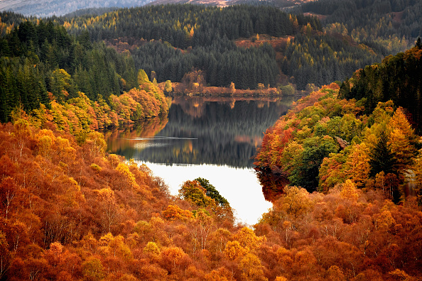紅葉「Beautiful Autumn Colours Are Seen Across Loch Lomond」:写真・画像(0)[壁紙.com]
