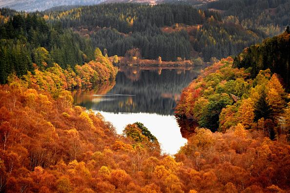Season「Beautiful Autumn Colours Are Seen Across Loch Lomond」:写真・画像(9)[壁紙.com]
