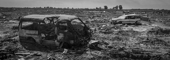 モノクロ「Ruined Landscape Tells Of Fierce Fight In Final ISIS Stronghold」:写真・画像(0)[壁紙.com]