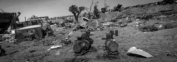 モノクロ「Ruined Landscape Tells Of Fierce Fight In Final ISIS Stronghold」:写真・画像(13)[壁紙.com]