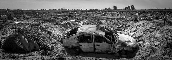 モノクロ「Ruined Landscape Tells Of Fierce Fight In Final ISIS Stronghold」:写真・画像(12)[壁紙.com]