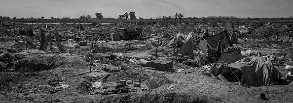 モノクロ「Ruined Landscape Tells Of Fierce Fight In Final ISIS Stronghold」:写真・画像(1)[壁紙.com]