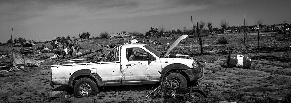 モノクロ「Ruined Landscape Tells Of Fierce Fight In Final ISIS Stronghold」:写真・画像(9)[壁紙.com]