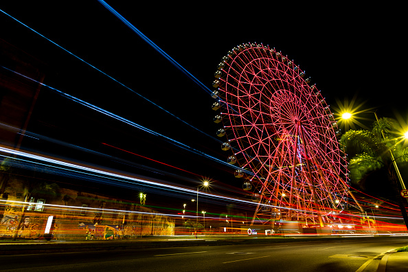"Amusement Park Ride「The Rio Star Ferris Wheel Illuminates In Orange For ""Orange December"" To Raise Skin Cancer Awareness Amidst the Coronavirus (COVID -19) Pandemic」:写真・画像(15)[壁紙.com]"
