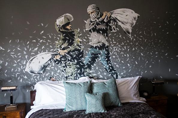 West Bank「British Artist Banksy Opens Walled Off Hotel In Bethlehem」:写真・画像(12)[壁紙.com]