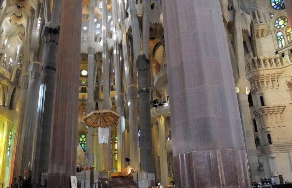 Sagrada Familia - Barcelona「Preparations Ahead Of Pope Benedict XVI's Visit」:写真・画像(4)[壁紙.com]