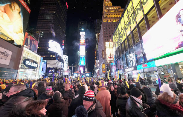 New Year「New Year's Eve 2018 in Times Square - Atmosphere」:写真・画像(7)[壁紙.com]