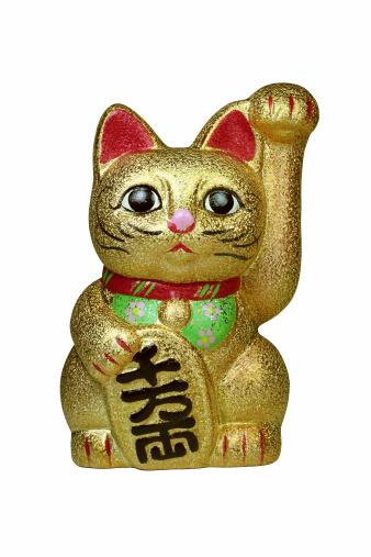 金運「招き猫」:スマホ壁紙(2)