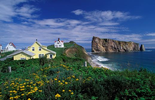 Cliff Dwelling「Houses on the coast of Perce, Quebec, Canada 」:スマホ壁紙(9)