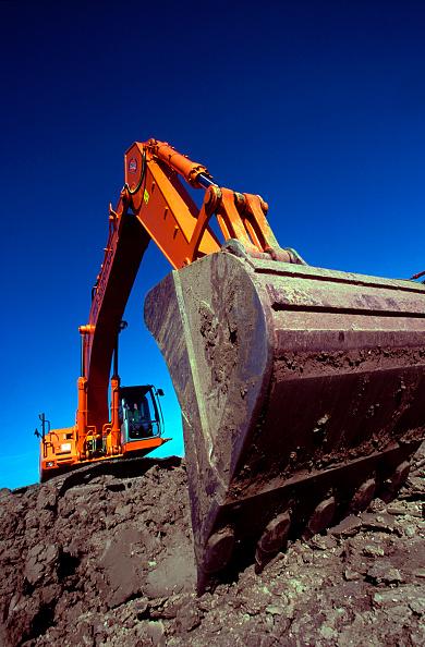 Danger「Crawler excavator on site.」:写真・画像(16)[壁紙.com]