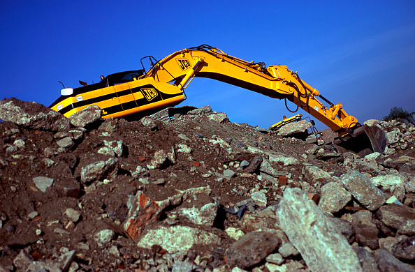 Earth Mover「JCB crawler excavator on site.」:写真・画像(10)[壁紙.com]
