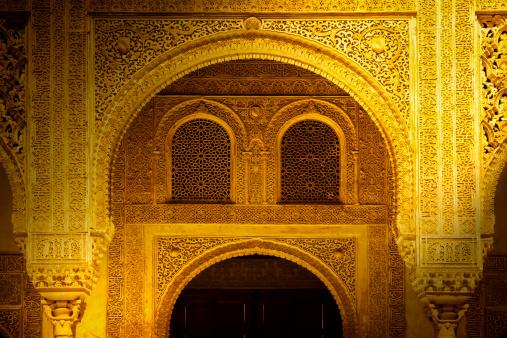 Arabic Style「Beautiful doorway in the Alhambra」:スマホ壁紙(19)