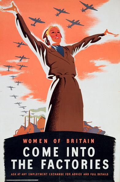 Poster「Women Of Britain Come Into The Factories' circa 1940」:写真・画像(15)[壁紙.com]
