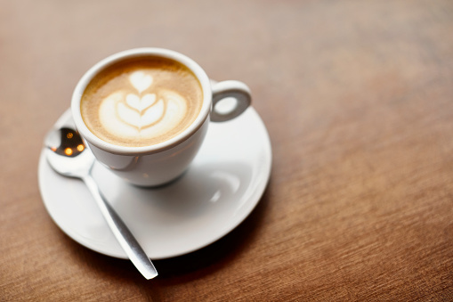 Buenos Aires「Cappuccino with froth art in cafe」:スマホ壁紙(12)