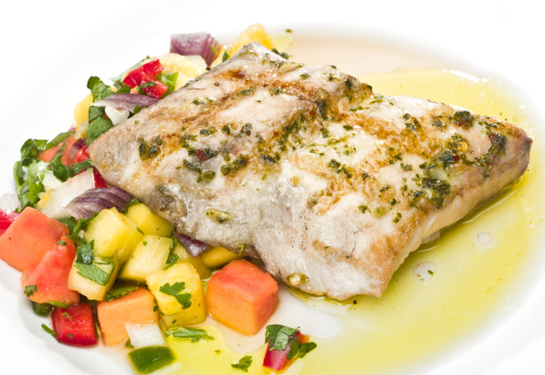 Char-Grilled「Grilled Fillet of Fish with tropical fruits」:スマホ壁紙(9)