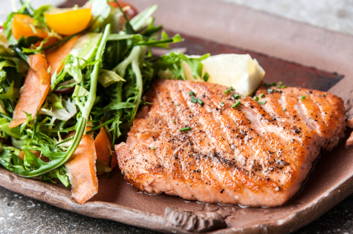 Course - Meal「Grilled fillet of wild salmon」:スマホ壁紙(3)