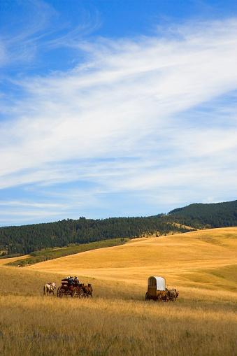Horse「Chuck Wagons Crossing the Prairies」:スマホ壁紙(4)