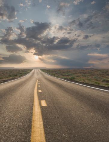 Dividing Line - Road Marking「USA, Arizona, Highway at sunset」:スマホ壁紙(13)