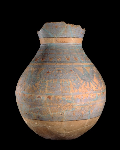 Pottery「Hand- And Wheel-Made Jar With Blue Painted Motifs」:写真・画像(4)[壁紙.com]