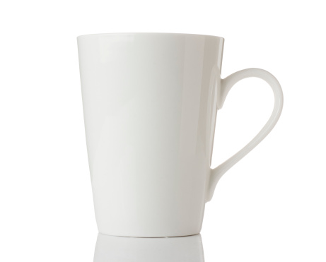 Tea Cup「White mug isolated on a white background」:スマホ壁紙(10)