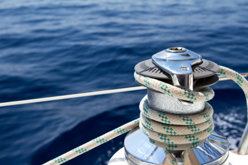 Sailboat「Sail boat winch with tight rope」:スマホ壁紙(15)