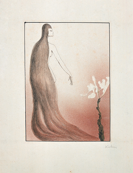 水彩画「Alfred Kubin - The Hair Train」:写真・画像(13)[壁紙.com]
