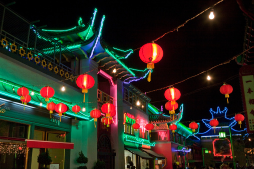 Chinese Lantern「Chinatown Plaza at night」:スマホ壁紙(0)