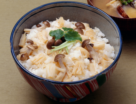 ヒラタケ「Steamed rice with shimeji mushrooms」:スマホ壁紙(14)