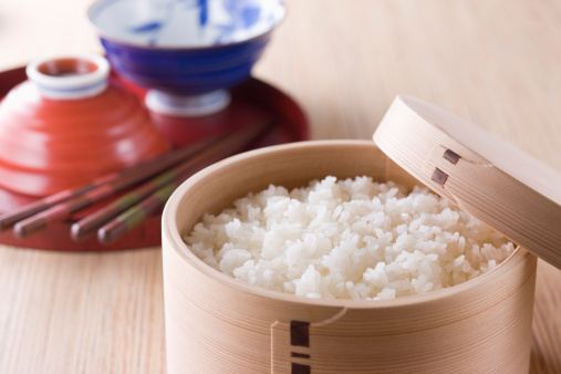 日本食「Steamed Rice in Wooden Tub」:スマホ壁紙(3)