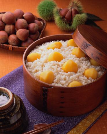 栗「Steamed rice with sweet chestnuts」:スマホ壁紙(19)